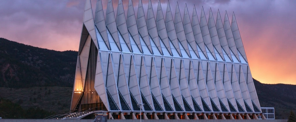 United States Air Force Academy Cadet Chapel – Colorado, USA Architecture by Walter Netsch from SOM