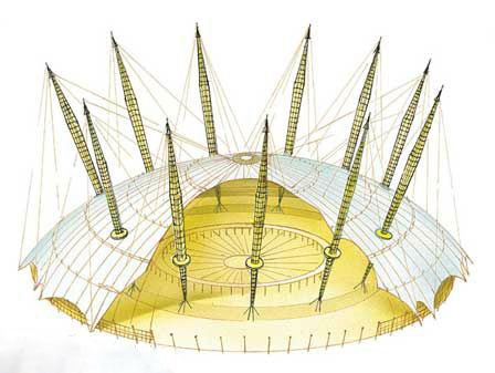 O2 / Millenium Dome – London, United Kingdom Architecture by Richard Rogers